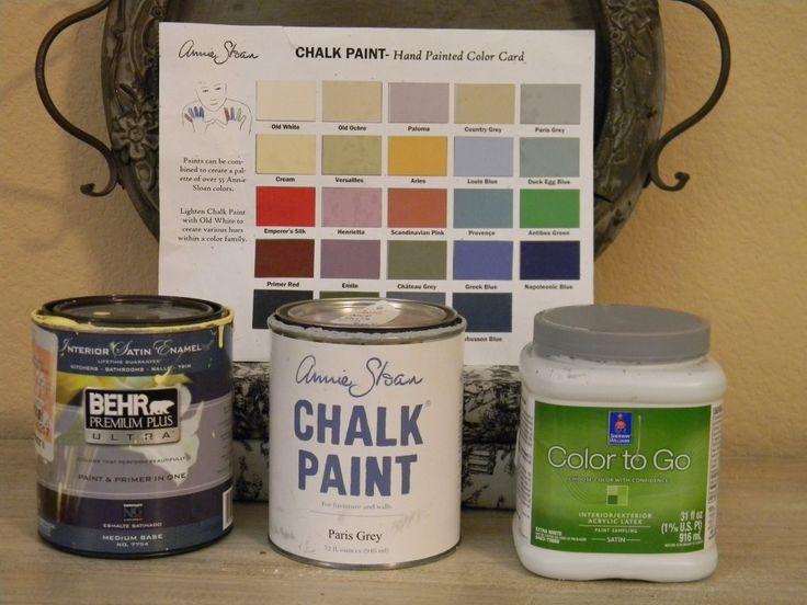 great paint color comparisons with Annie Sloan's Chalk paint