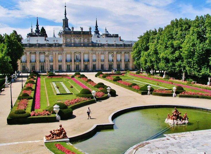 Jardines del palacio Real de la Granja en Segovia