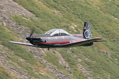 BAE Systems Pilatus PC.9 'Percy' ZG969 low level at Thirlmere