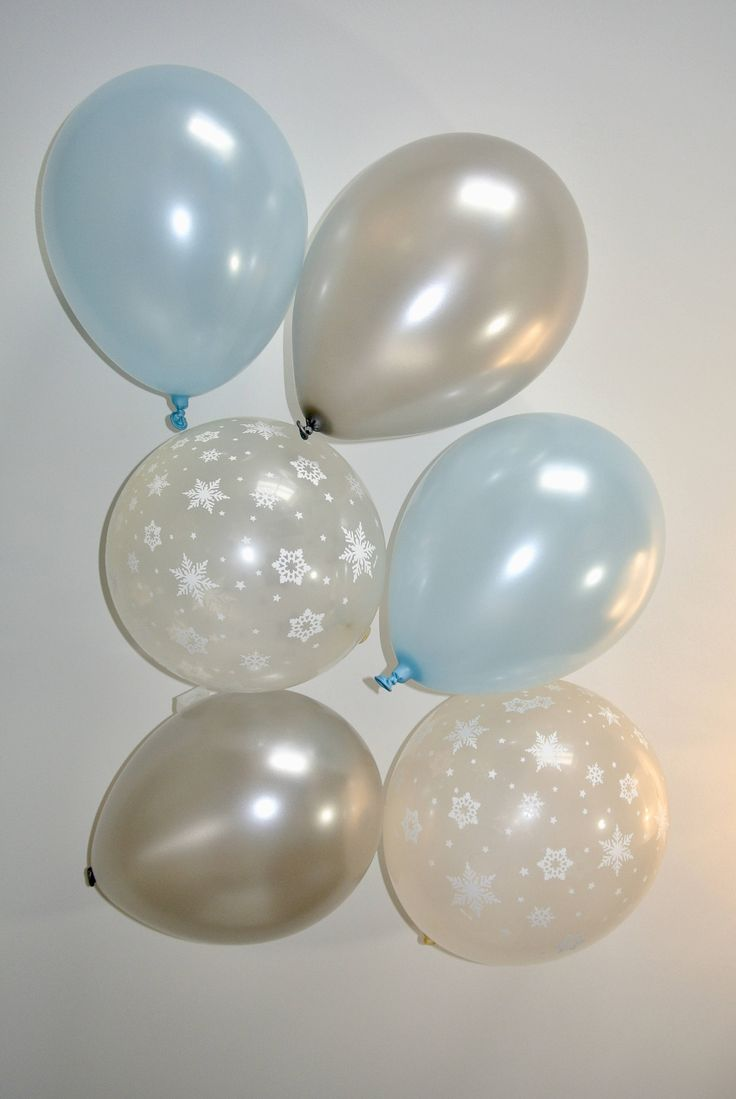 Silver and Blue Snowflake Balloons. Winter Onederland First Birthday. Winter Baby Shower. Snowflake Balloon. Wonderland Party Decor by PaperRabbit87 on Etsy