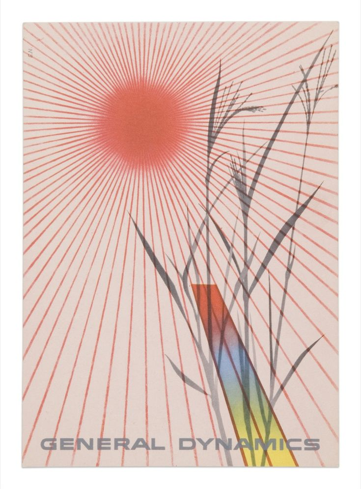 Erik Nitsche, General Dynamics  Postcard, 1955