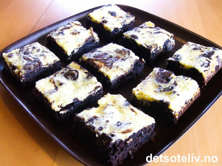 Oreo Cream Cheese Brownies | Det søte liv