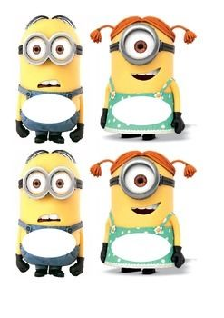 Use these boy and girl minions to place onto tables, job charts, windows or…