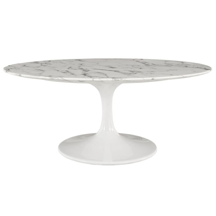 Modway Lippa Marble Coffee Table - EEI-1140-WHI