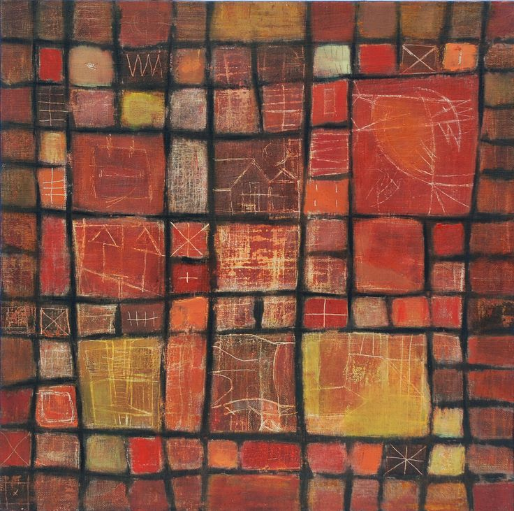 Textile series 1 de 4 mixed media on canvas 50 x 50 cm 2008