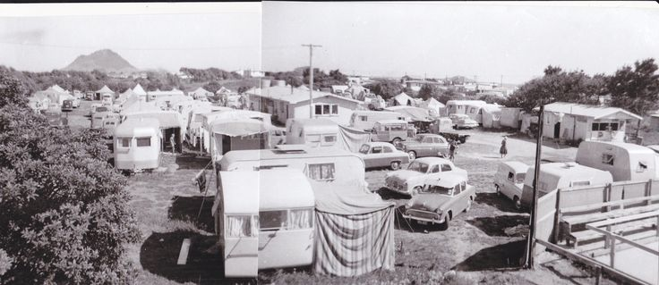 Cosy Corner Holiday Park, Mt Maunganui, NZ 1957 - first year of operation