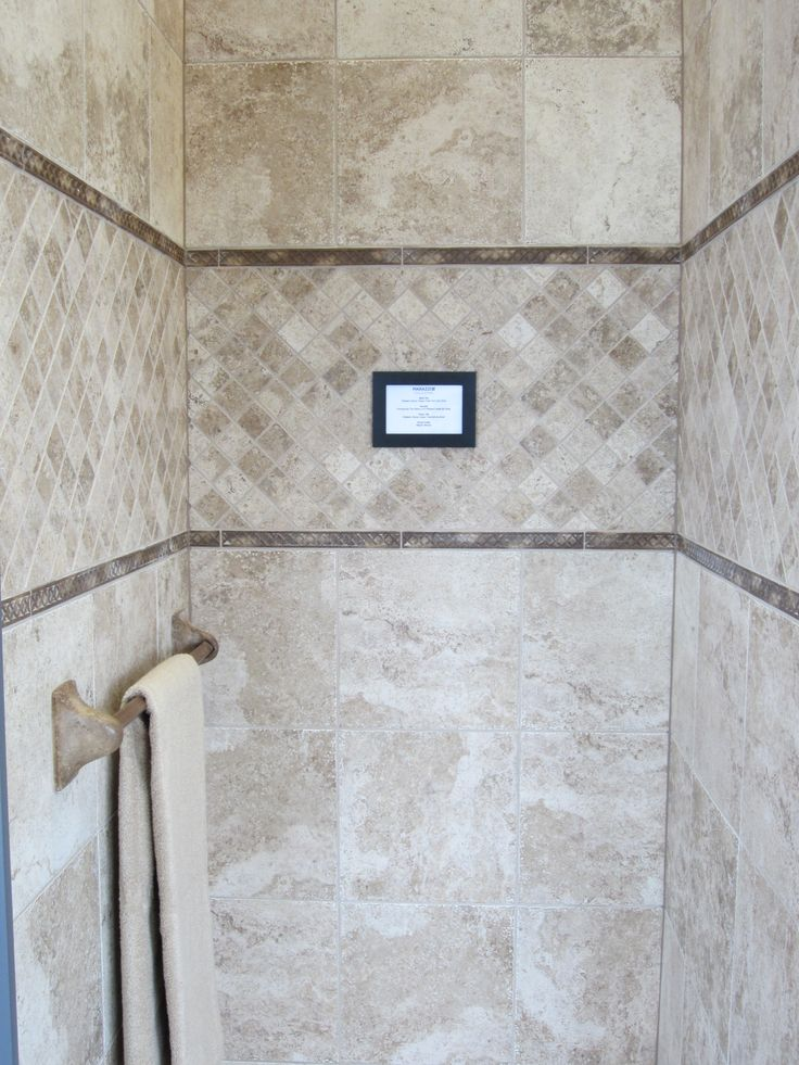 Shower tile designs slate google search bathroom remodel pinterest shower tiles Shower tile layout