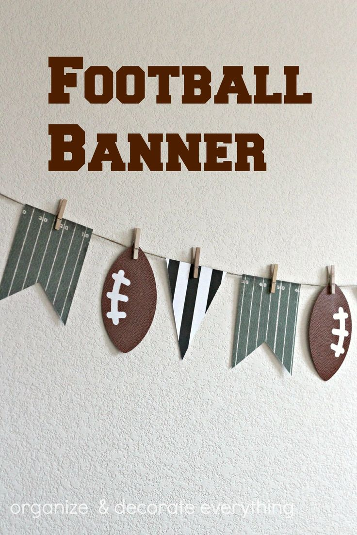 Football Banner - Organize and Decorate Everything