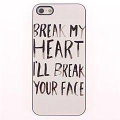 bryte ansikt design aluminium hard case for iPhone 4/4S