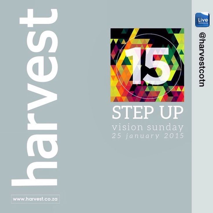 VISION SUNDAY Our new décor designs are up to remind us that God is calling us to #StepUp15  Join us this Sunday 9am | 5.30pm