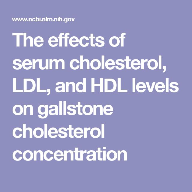 The effects of serum cholesterol, LDL, and HDL levels on gallstone cholesterol concentration