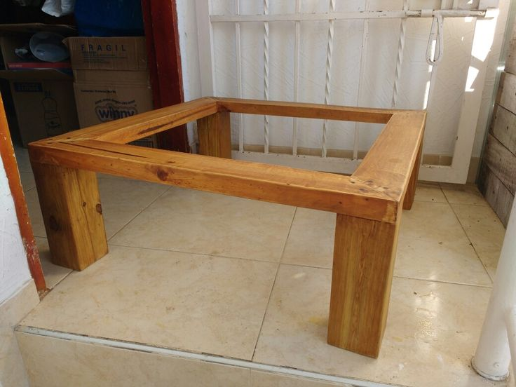 mesa con Palets pino DIY reciclado