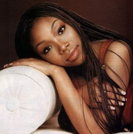 "Brandy Norwood - my fascination with Brandy was pretty superficial. I thought she was so pretty, especially in Cinderella. It wasn't all her purty looks, though. I loved her beautiful voice. ""Have You Ever"" and ""Almost Doesn't Count"" were replayed over and over. Her CD was one of my first and I'm still loving everything she does today. -t."