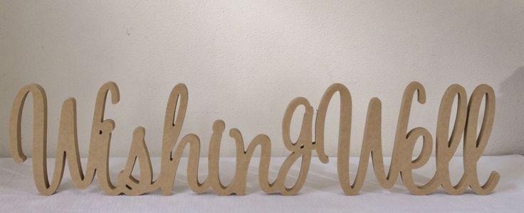 Wishing Well MDF Wooden Letters freestanding sign gift, wedding decor, birthday in Home & Garden, Wedding Supplies, Decorations | eBay
