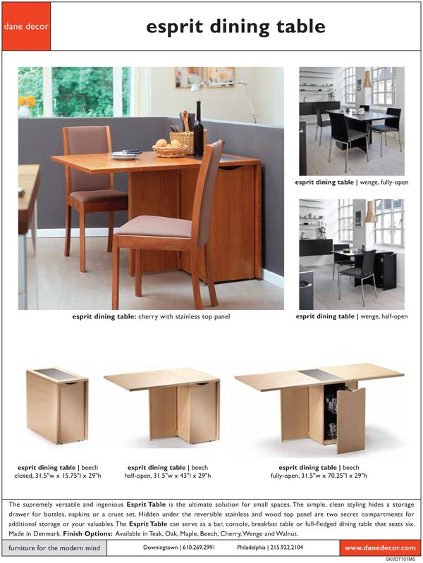 Skovby SM101 Esprit Dining Table. Unique Drop Leaf Table And Proudly Made  In Denmark.   Unique Furniture   Pinterest   Drop Leaf Table, Leaf Table  And ...
