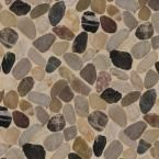 MSI Mix River Rock 12 in. x 12 in. x 10 mm Tumbled Marble Mesh-Mounted Mosaic Tile (10 sq. ft. / case)-PEB-MIXRVR - The Home Depot