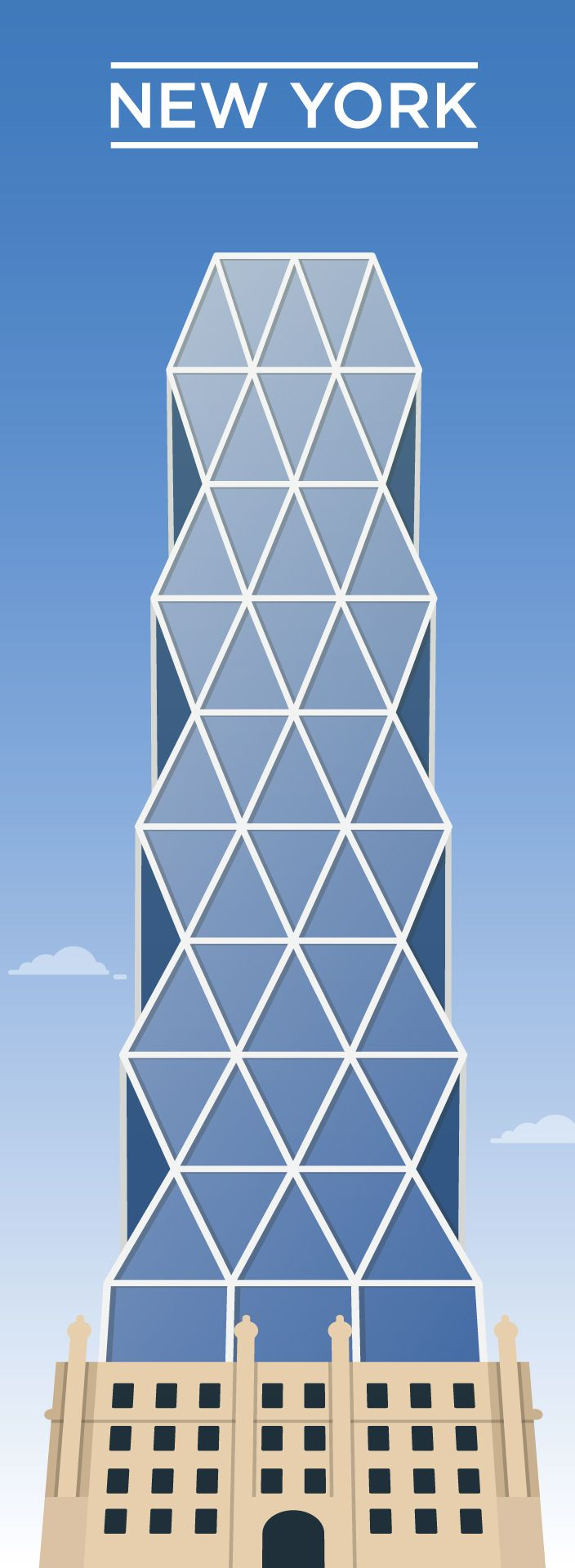 Vector skyscrapers on Behance