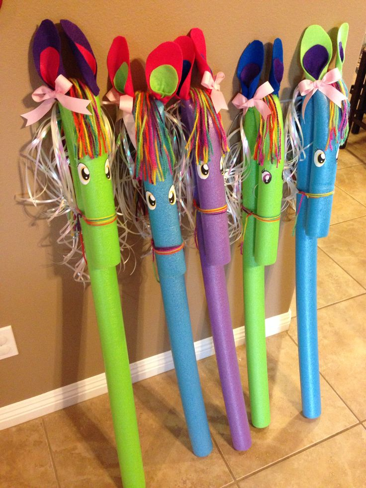 My Little Pony Pool Noodles Kids Party Ideas