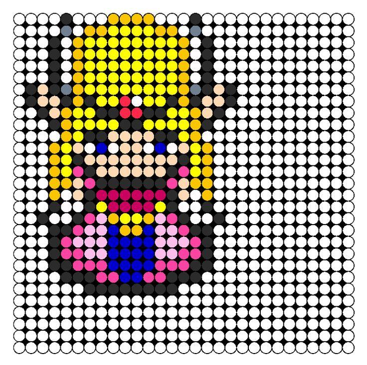 Princess Zelda Perler Bead Pattern / Bead Sprite