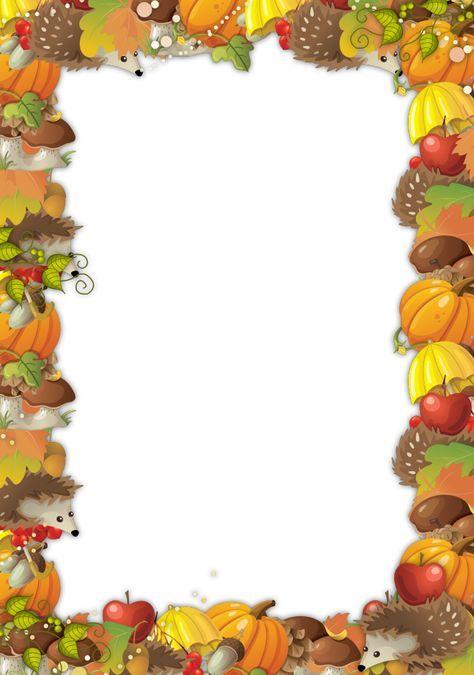 cute autumn frame