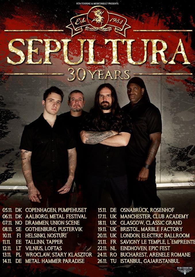 26 Kasım 2015 - Sepultura 30. Yıl İstanbul Konseri