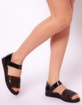 ASOS FASTER Studded Flat Sandals