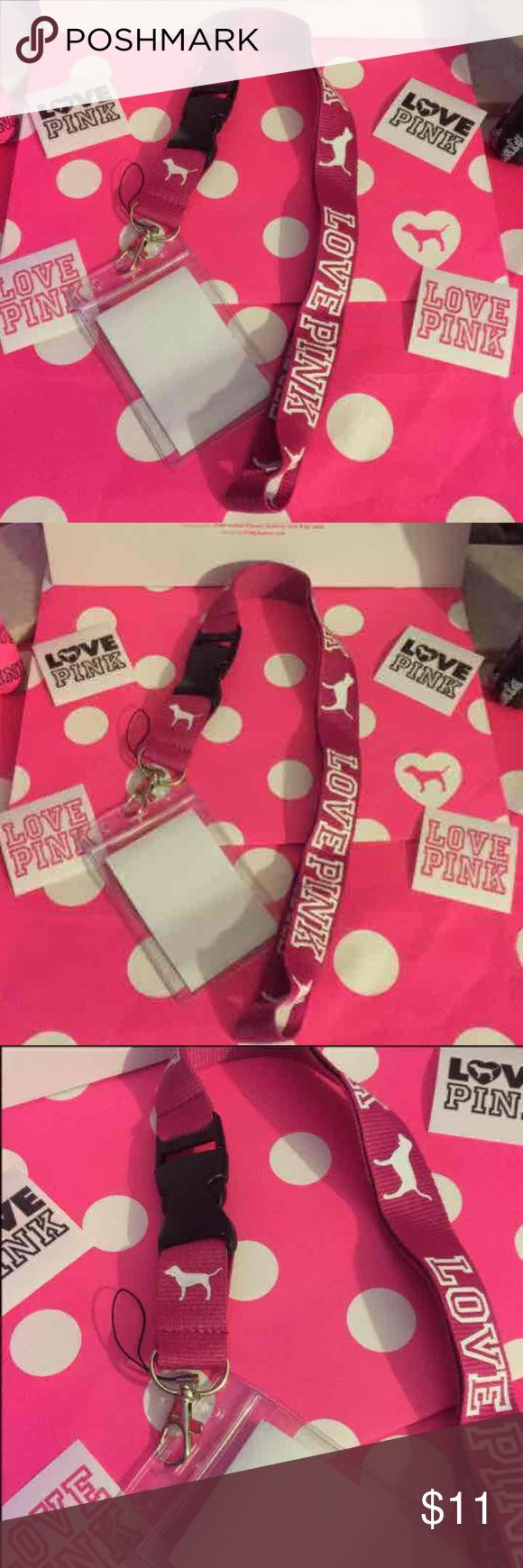 "Brand new Victoria secret lanyard & id holder 😘💋 New Victoria secret lanyard Hot pink  and white  With waterproof wallet ID holder clear both are brand-new never used      ❌NO ""lowest""/NO lowballing, No free shipping sorry ! Firm on price ❤️       Check my other items    Miss me  Rock revival  Victoria Secret  Pink  Vs  Michael kors  True religion  Tiffany and co  And more     ✅Ship same day ;).   Price is firm ❤️ lowest ❤️ PINK Victoria's Secret Bags Wallets"