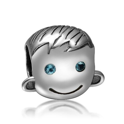 Pandora Charm Boy Face Sterling Silver