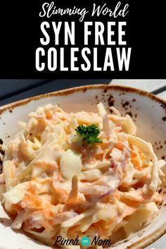 Syn Free Coleslaw | Slimming World Recipes - pinchofnom.com