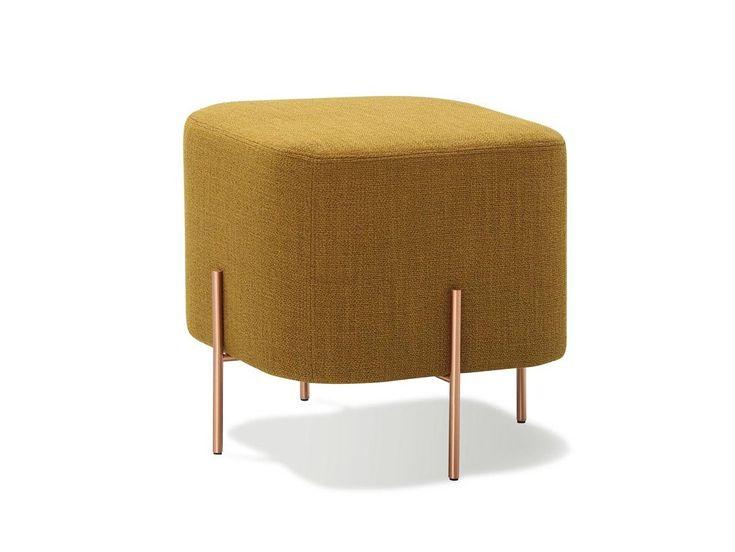 Gepolsterter Sitzpuff aus Stoff ELEPHANT | Sitzpuff - SANCAL