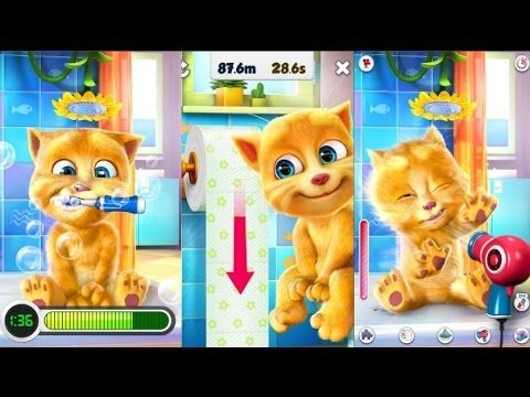 Baby Learn Colors with My Talking Ginger Colours for Kids Animation Educ...