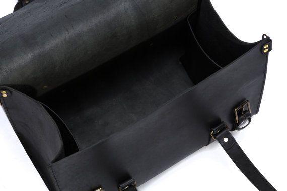 Mannen lederen plunjezak handbagage Carry Lite Holdall