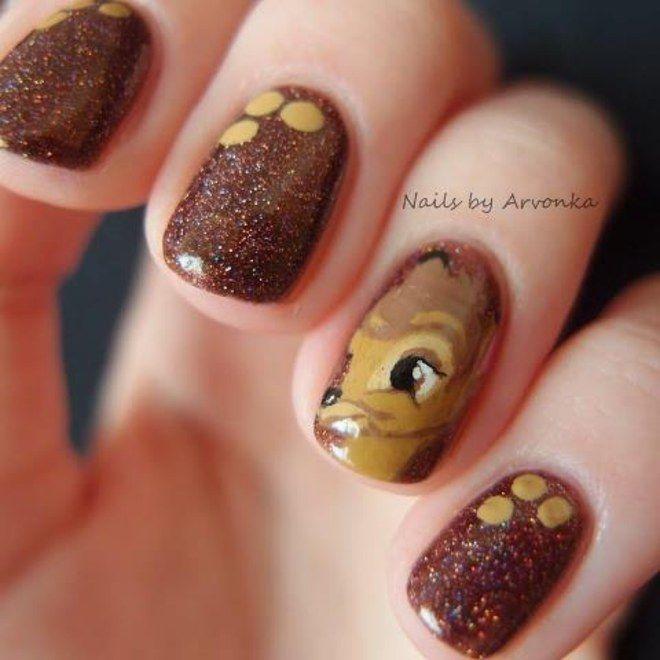 Nail art Bambi