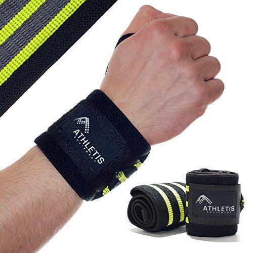 Handgelenkbandage gummiert | Athletis Equipment | 50 cm | f�r Kraftsport, Fitness, Crossfit, Gewichtheben, Bodybuilding