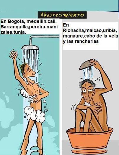 Como nos bañamos