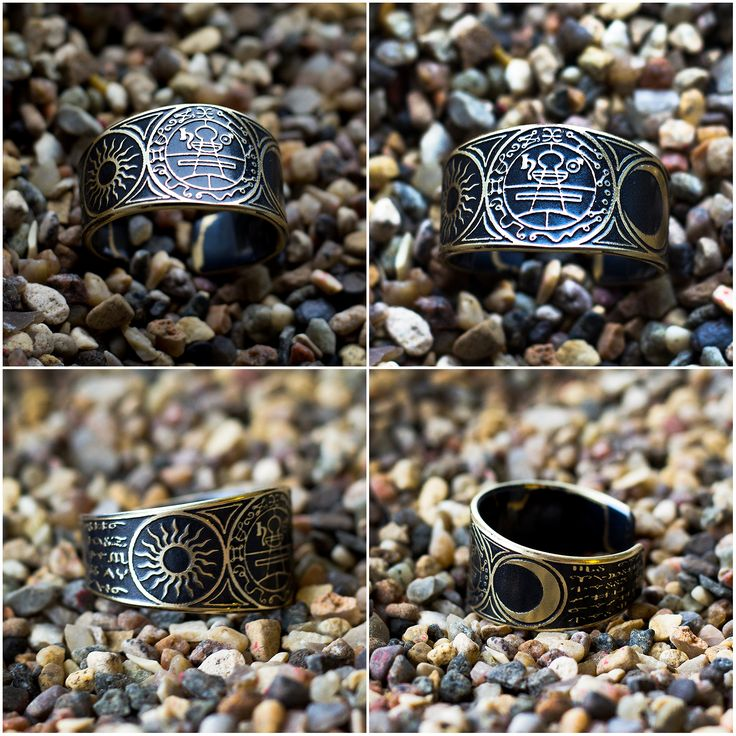 Secret Seal of solomon Moon and Sun ring