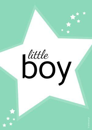 Plakat dla dzieci little boyDARMOWE PLAKATY