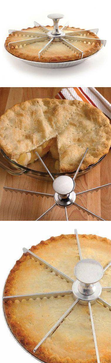 Perfect Pie Divider // Pie Cutter kitchen gadgets baking Tap the link now to find the hottest products for your kitchen!