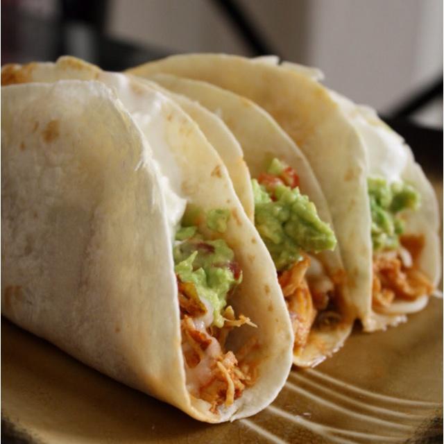 Crockpot Shredded Chicken Tacos | FOOOD | Pinterest