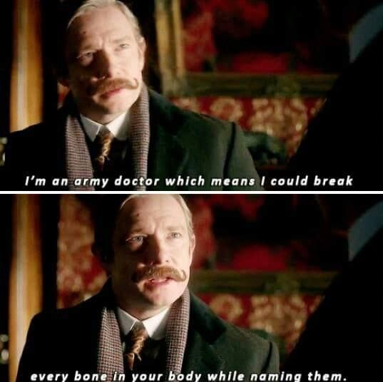 """This. Is. So. Sexy! ....I think they should have modern John Watson say this too and someone say """"I've heard that before"""""""