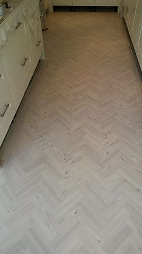 Client: Private Residence In West London Brief: To supply & install Amtico herringbone flooring to the area   According to London flooring experts, some substances which are situated under the flooring go out into the floor surface. This phenomenon is typical for heterogeneous floorcoverings and for some slightly coloured homogenous productions. Generally a special test must be conducted to determine the level of moisture. http://www.theflooringgroup.co.uk/hallway-amtico-herringbone-floor/