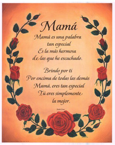 poems for mom in spanish and english Google Search mom