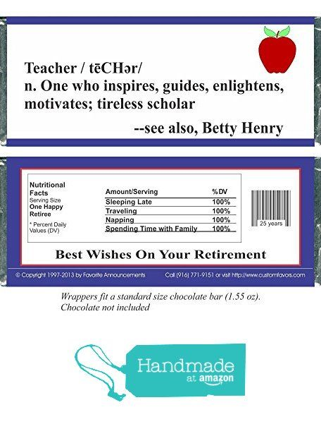 26 best Retirement Candy Bar Wrappers images on Pinterest Candy - candy bar wrapper template