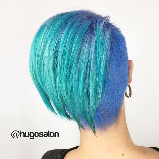 25 Best Ideas About Teal Green Color On Pinterest: Best 25+ Short Teal Hair Ideas On Pinterest