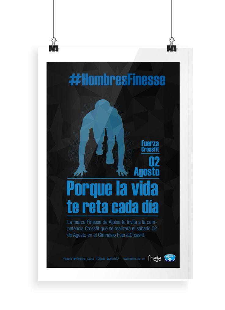 Afiche: campaña hombres Finesse