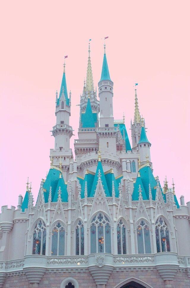 Cinderella Castle X Pink Sky Wallpaper Wallpaper Disney Bright