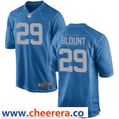 Men s Detroit Lions  29 LeGarrette Blount Blue Throwback Stitched NFL Nike  Game Jersey e85daffc7