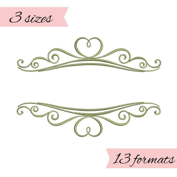 wedding monogram frames embroidery machine designs,monogram frames pattern,heart,merried by WeddingdesignStore on Etsy