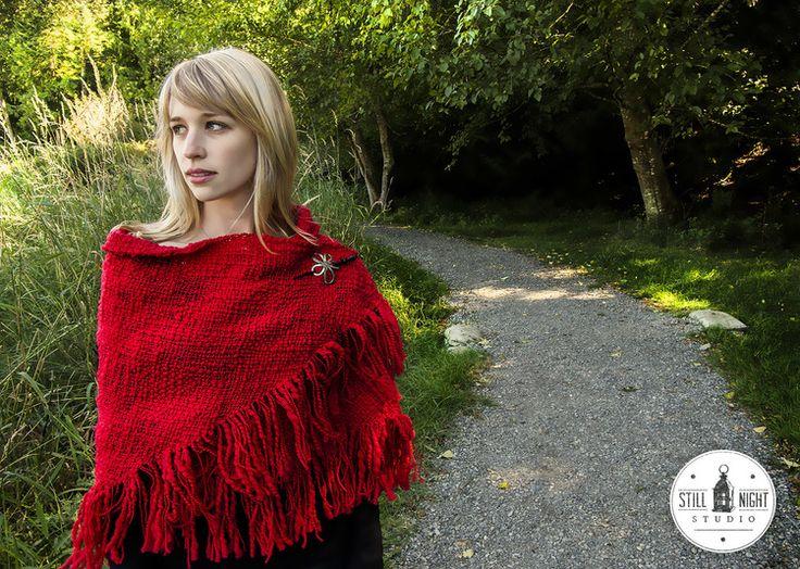 Drifter's Red Shawl by Stillnight Studio