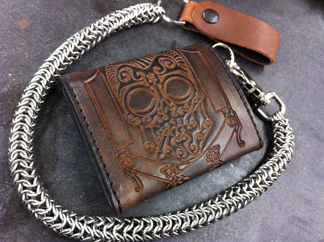 how to put a chain on a wallet